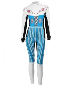 Ski Suit W_ light turquoise white