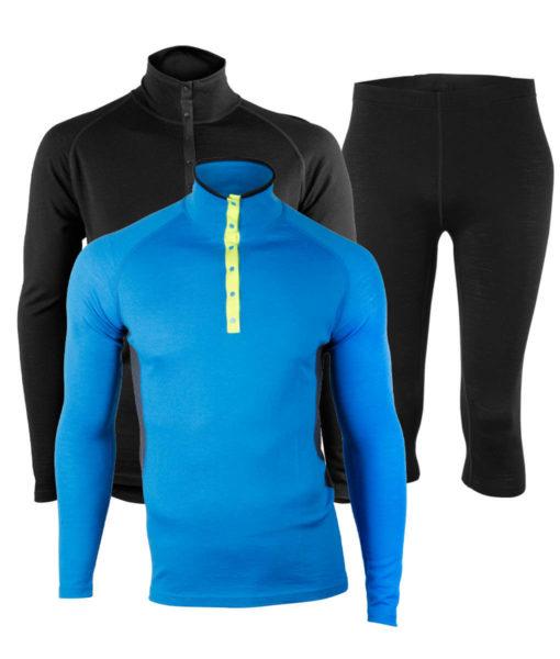 Paketpris Merino Top Polo – Warm Knee Pants M