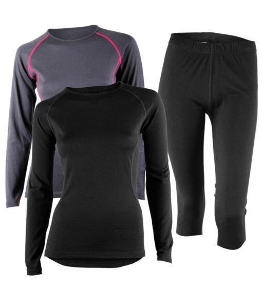 Paketpris Merino Top – Warm Knee Pants W
