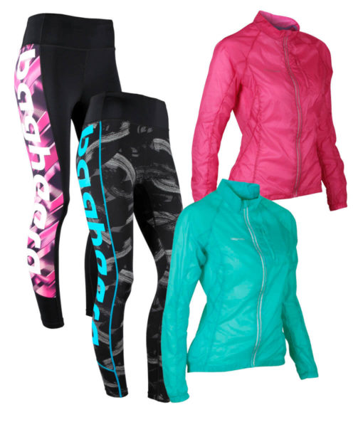 Paketpris 3D Compression Tights + Feather jacket W