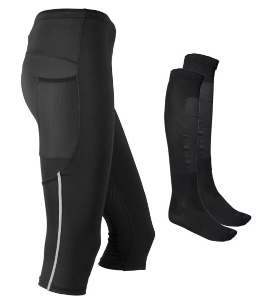 Paketpris Tights Knee Dam + Orienteering Socks
